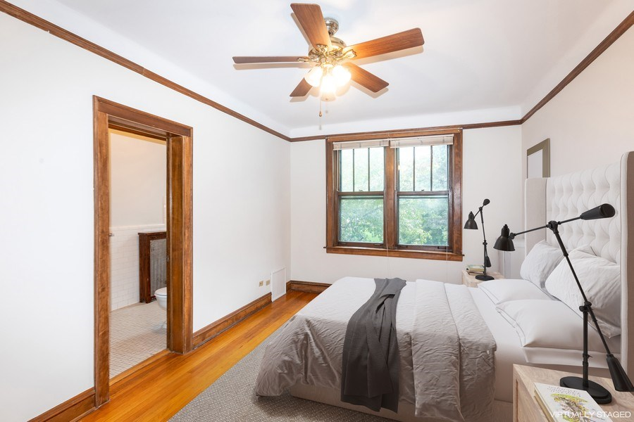 Real Estate Photography - 5449 S East View Park, Unit 1, Chicago, IL, 60615 - Master Bedroom
