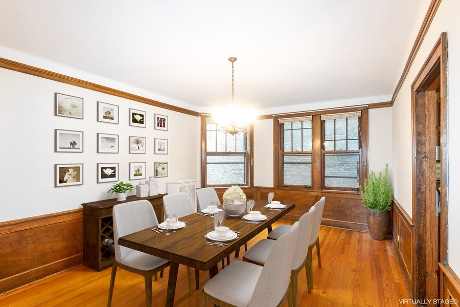 Real Estate Photography - 5449 S East View Park, Unit 1, Chicago, IL, 60615 - Dining Room