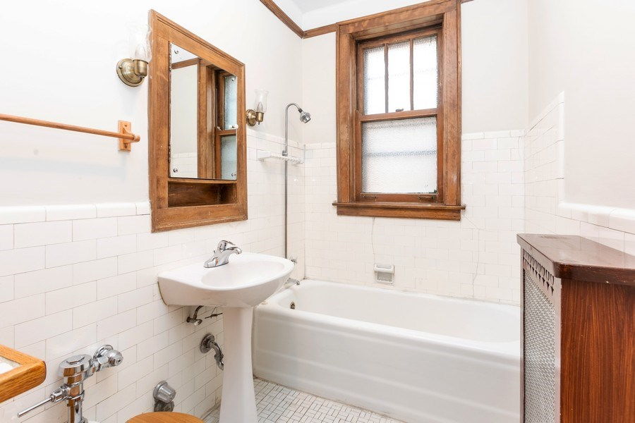 Real Estate Photography - 5449 S East View Park, Unit 1, Chicago, IL, 60615 - Bathroom