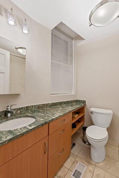 Real Estate Photography - 31 E Elm, 1B, Chicago, IL, 60611 - 2nd bathroom mainfloor