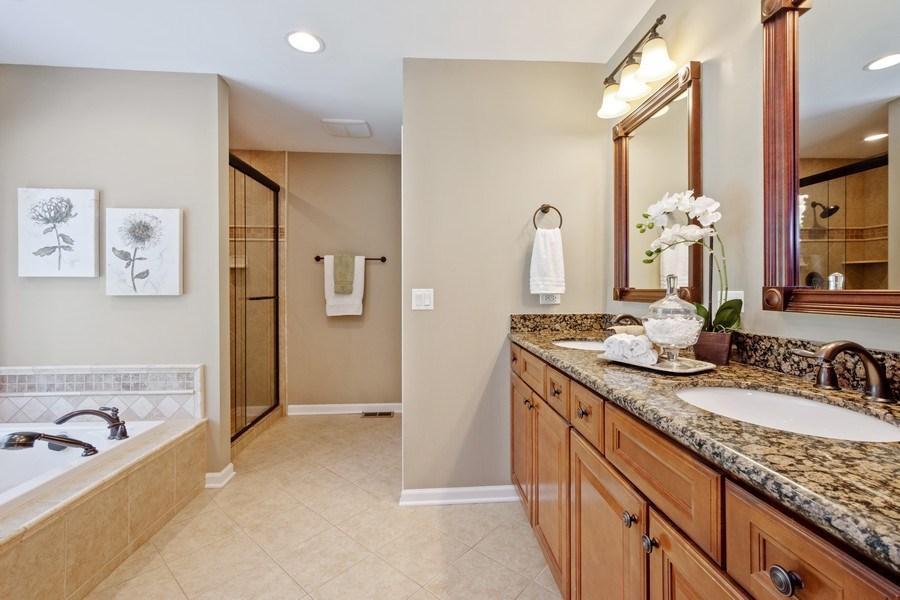 Real Estate Photography - 23443 Mallard Court, Deer Park, IL, 60010 - Master Bathroom