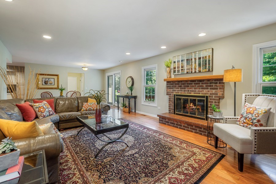 Real Estate Photography - 23443 Mallard Court, Deer Park, IL, 60010 - Family Room