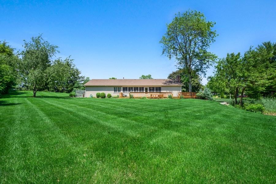 Real Estate Photography - 23443 Mallard Court, Deer Park, IL, 60010 - Rear View