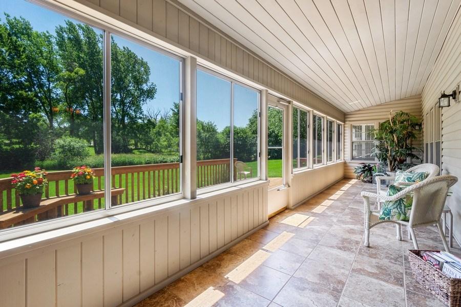 Real Estate Photography - 23443 Mallard Court, Deer Park, IL, 60010 - Sun Room