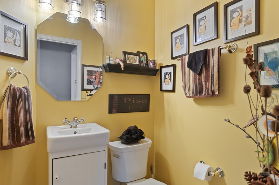 Real Estate Photography - 1140 Hillside Ave, Antioch, IL, 60002 - Powder Room