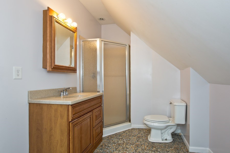 Real Estate Photography - 317 Shakespeare St, Wilmington, IL, 60481 - Master Bathroom