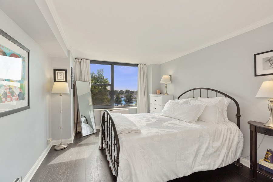 Real Estate Photography - 3440 N. Lake Shore Dr., 4A, Chicago, IL, 60657 - Master Bedroom