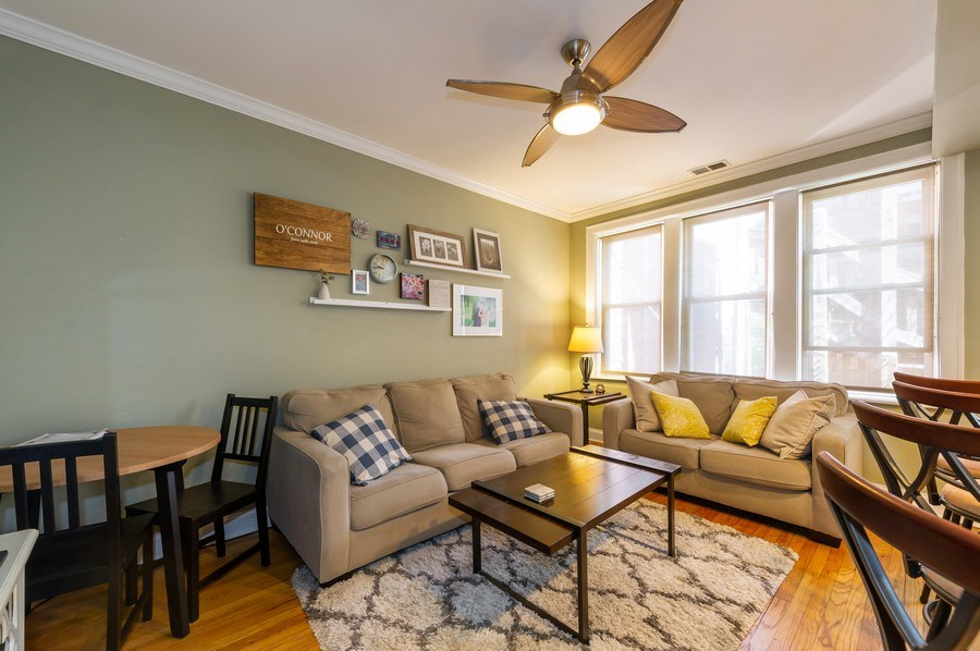 Real Estate Photography - 2238 W Roscoe Street, 2, Chicago, IL, 60618 - Living Room