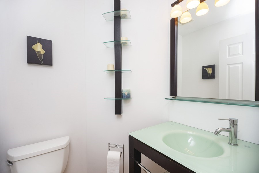 Real Estate Photography - 4555 Concord Ln, Northbrook, IL, 60062 - Half Bath