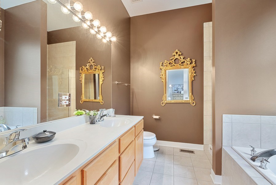 Real Estate Photography - 165 Whistler, Highland Park, IL, 60035 - Master Bathroom