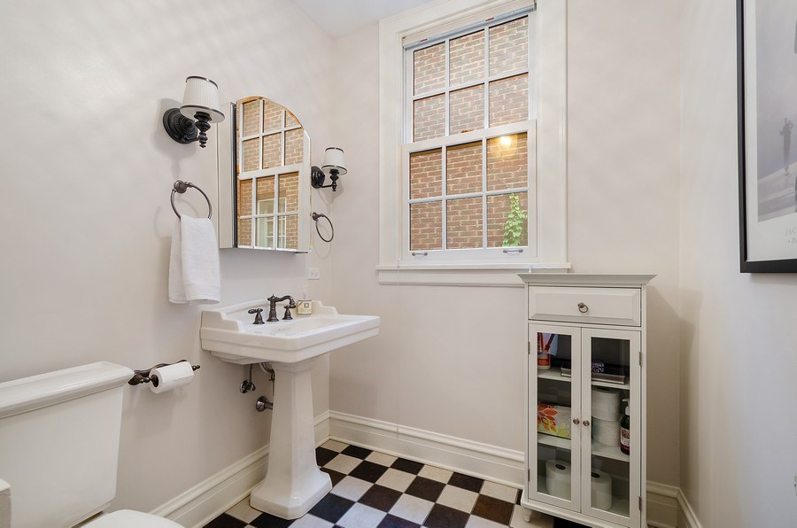 Real Estate Photography - 2417 Thayer Street, Evanston, IL, 60201 - Powder Room