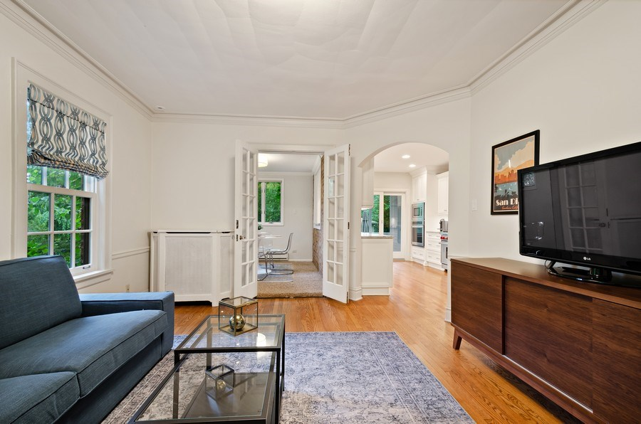 Real Estate Photography - 2417 Thayer Street, Evanston, IL, 60201 - Family Room