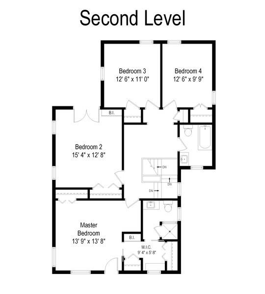 Real Estate Photography - 2417 Thayer Street, Evanston, IL, 60201 - Floor Plan
