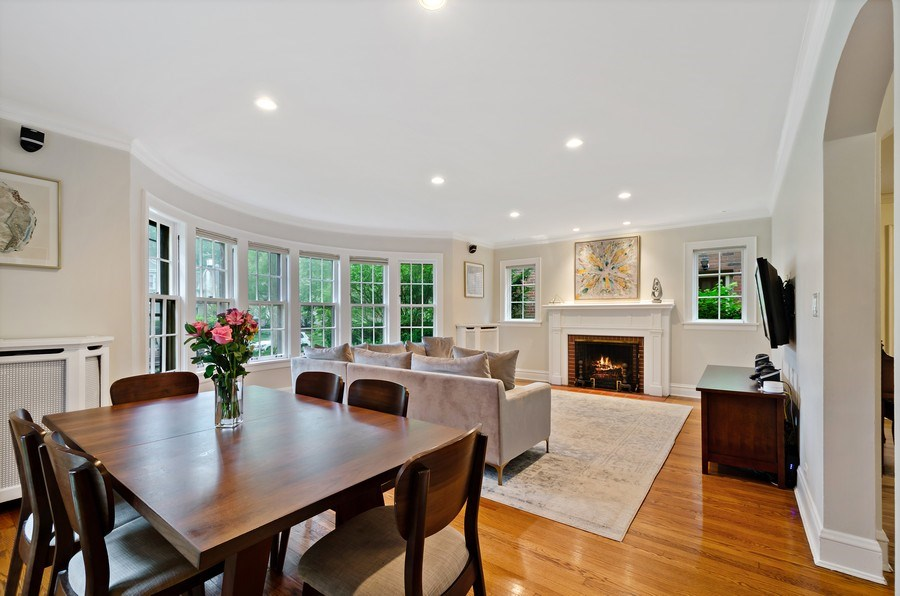 Real Estate Photography - 2417 Thayer Street, Evanston, IL, 60201 - Living Room / Dining Room