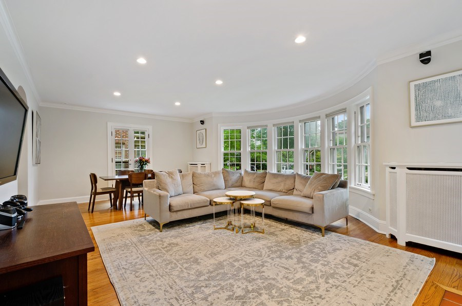 Real Estate Photography - 2417 Thayer Street, Evanston, IL, 60201 - Living Room/Dining Room