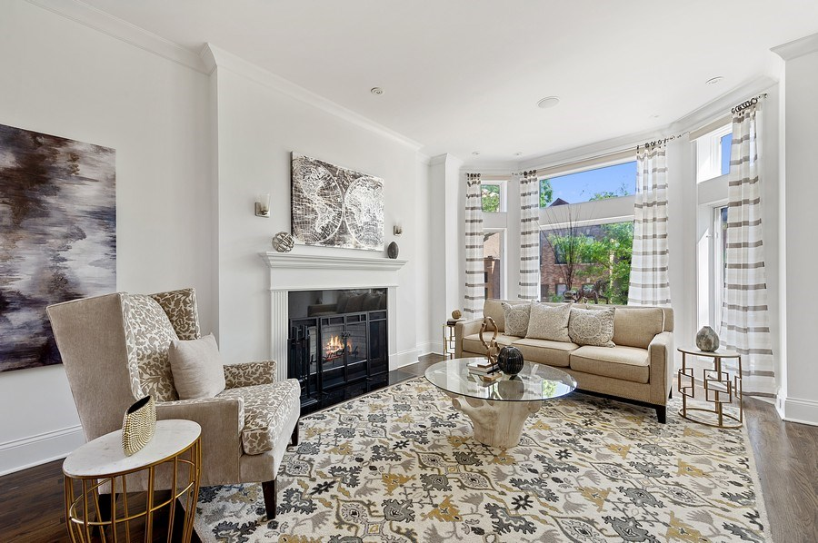 Real Estate Photography - 1412 W. Lexington, Chicago, IL, 60607 - Living Room