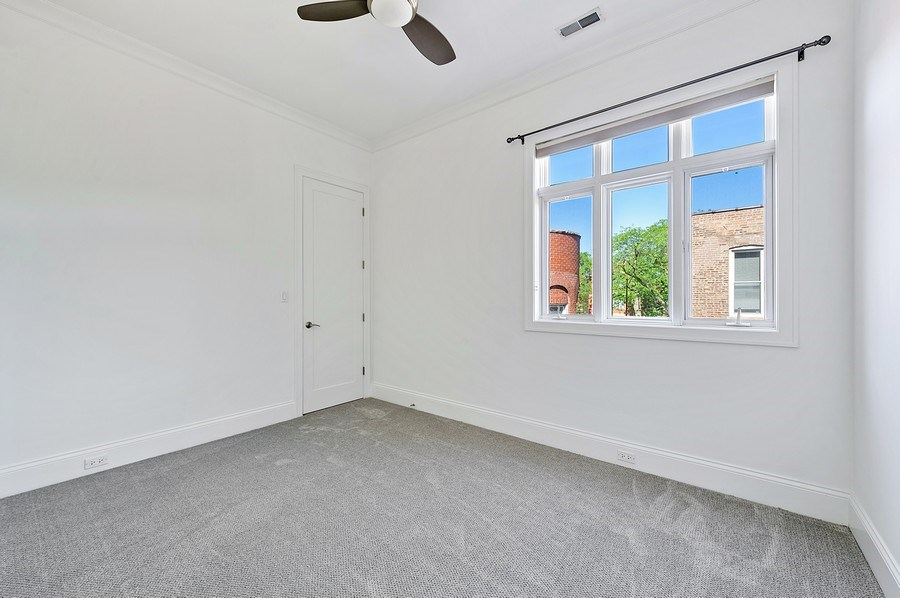 Real Estate Photography - 1412 W. Lexington, Chicago, IL, 60607 - 3rd Bedroom