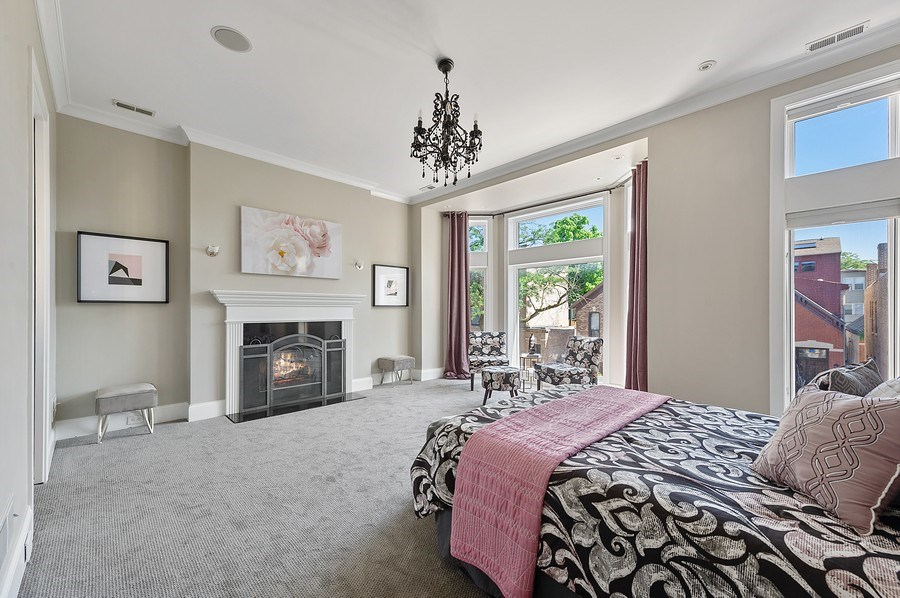 Real Estate Photography - 1412 W. Lexington, Chicago, IL, 60607 - Master Bedroom