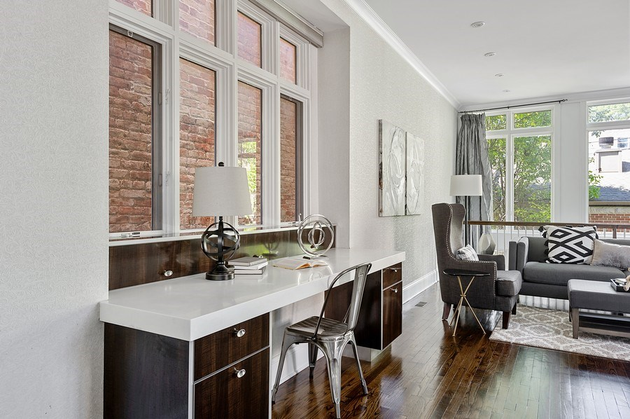Real Estate Photography - 1412 W. Lexington, Chicago, IL, 60607 - Kitchen Desk