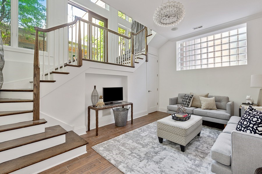Real Estate Photography - 1412 W. Lexington, Chicago, IL, 60607 - Family Room