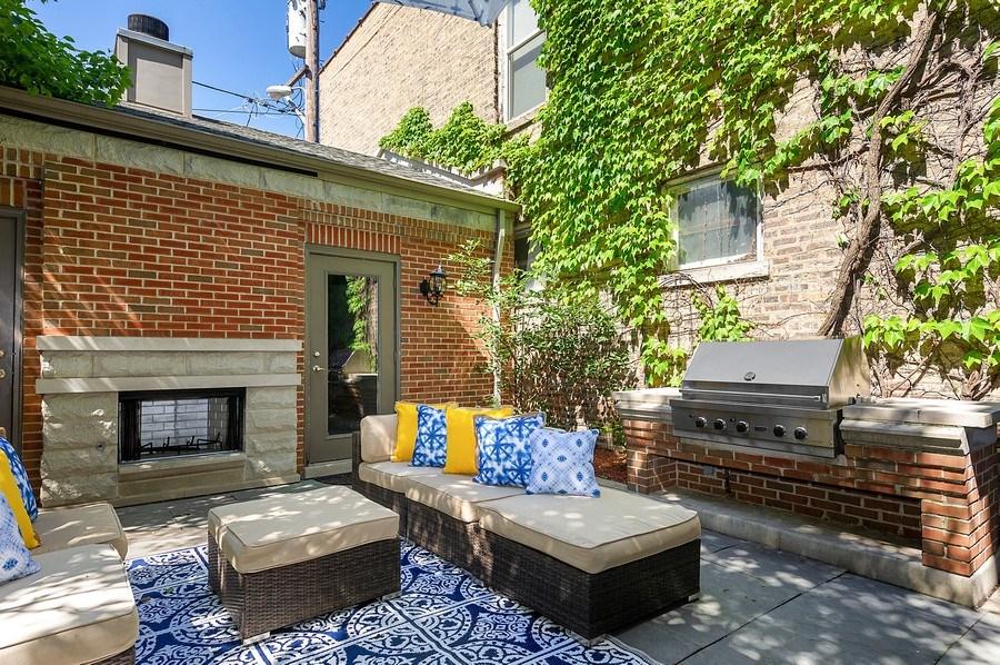 Real Estate Photography - 1412 W. Lexington, Chicago, IL, 60607 - Patio