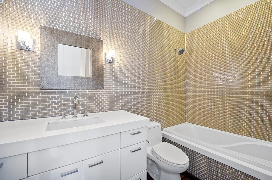 Real Estate Photography - 1412 W. Lexington, Chicago, IL, 60607 - 2nd Bathroom