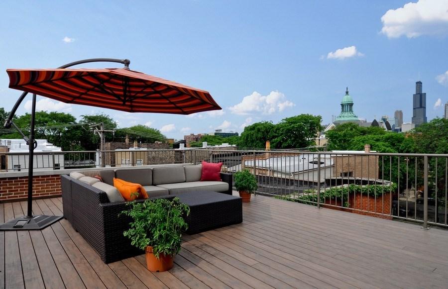 Real Estate Photography - 1412 W. Lexington, Chicago, IL, 60607 - Roof Deck
