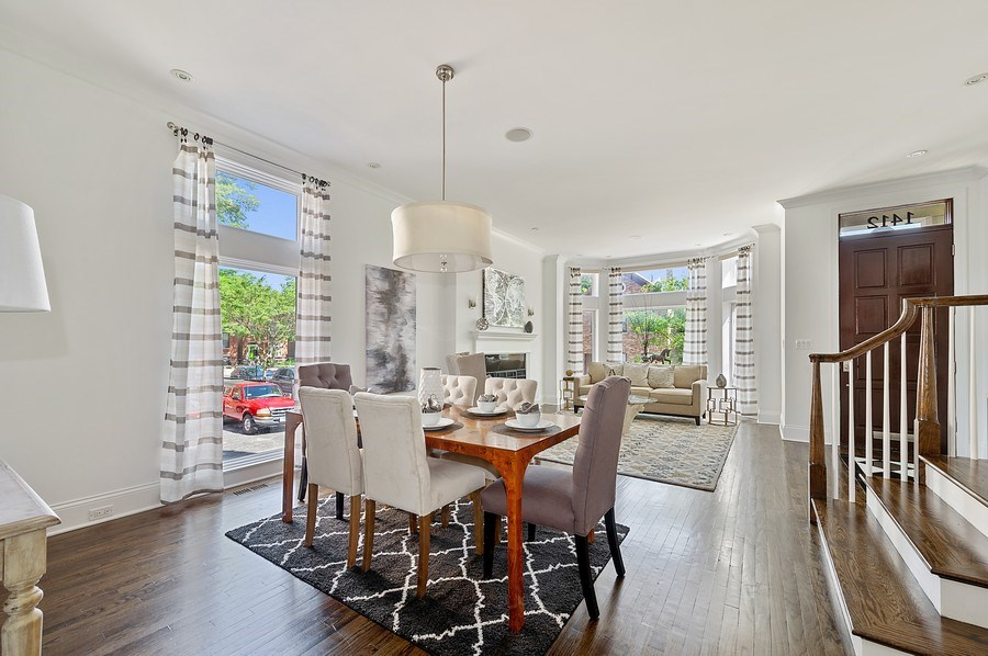 Real Estate Photography - 1412 W. Lexington, Chicago, IL, 60607 - Living Room / Dining Room