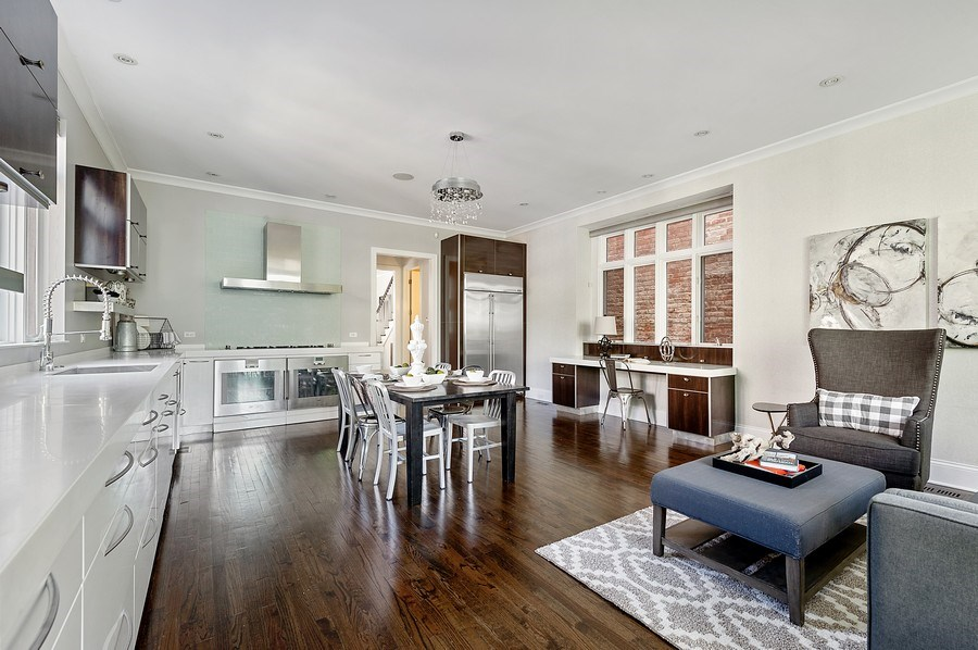 Real Estate Photography - 1412 W. Lexington, Chicago, IL, 60607 - Great Room