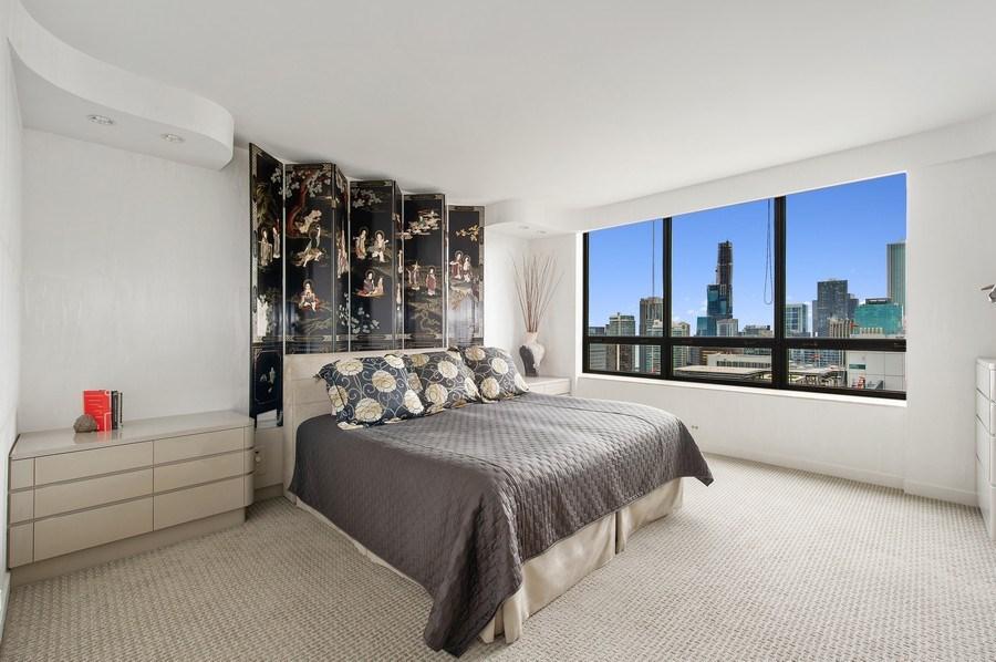 Real Estate Photography - 180 E. Pearson, #3606, Chicago, IL, 60611 - Master Bedroom