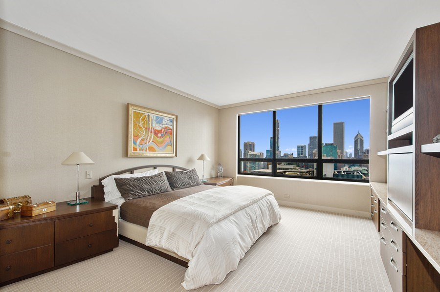 Real Estate Photography - 180 E. Pearson, #3606, Chicago, IL, 60611 - Second Bedroom