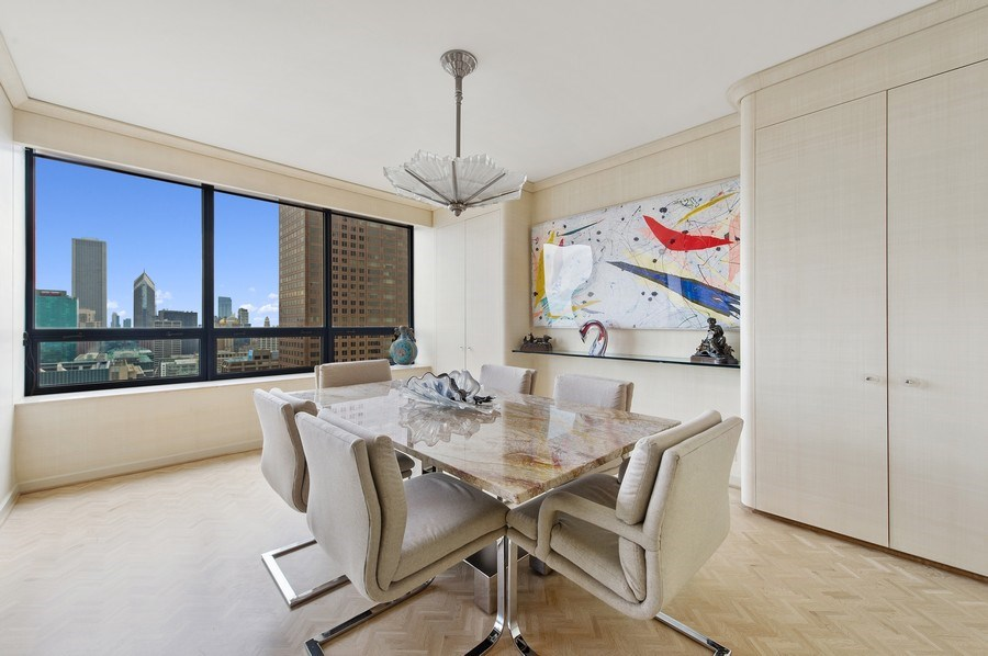 Real Estate Photography - 180 E. Pearson, #3606, Chicago, IL, 60611 - Dining Room