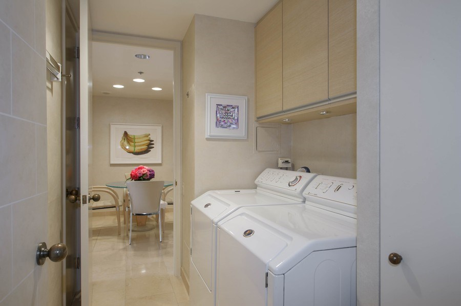 Real Estate Photography - 180 E. Pearson, #3606, Chicago, IL, 60611 - Laundry Room