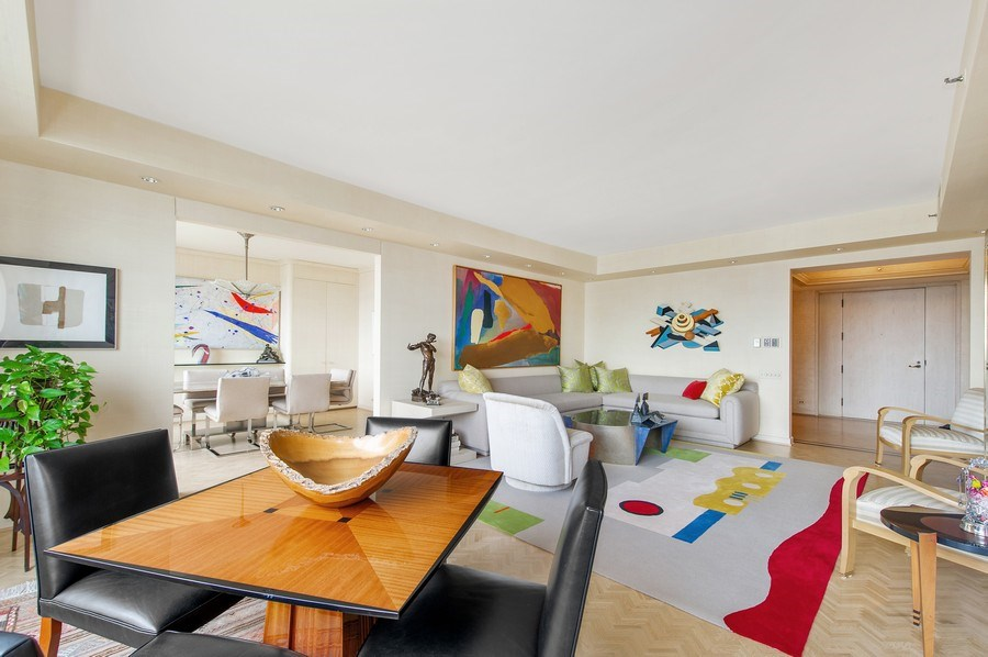 Real Estate Photography - 180 E. Pearson, #3606, Chicago, IL, 60611 - Living Room/Dining Room