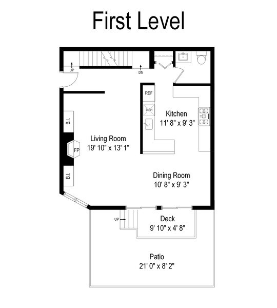 Real Estate Photography - 1649 N. Vine, Chicago, IL, 60614 - Floor Plan