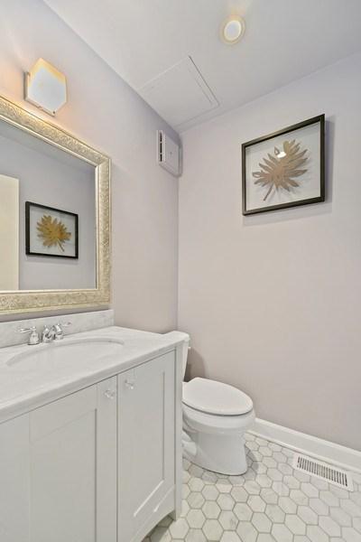 Real Estate Photography - 1649 N. Vine, Chicago, IL, 60614 - Half Bath