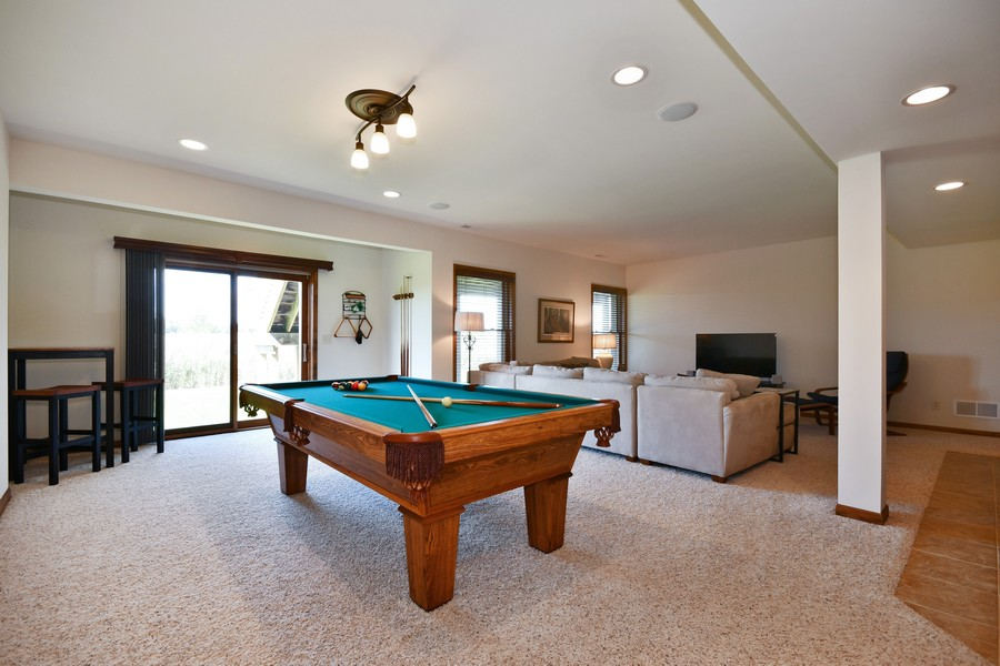 Real Estate Photography - 00N678 King Drive, Geneva, IL, 60134 - 2nd Family Room & Game Room Walk Out Basement