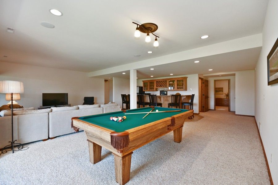 Real Estate Photography - 00N678 King Drive, Geneva, IL, 60134 - 2nd Family Room & Game Room in Walk Out Basement &