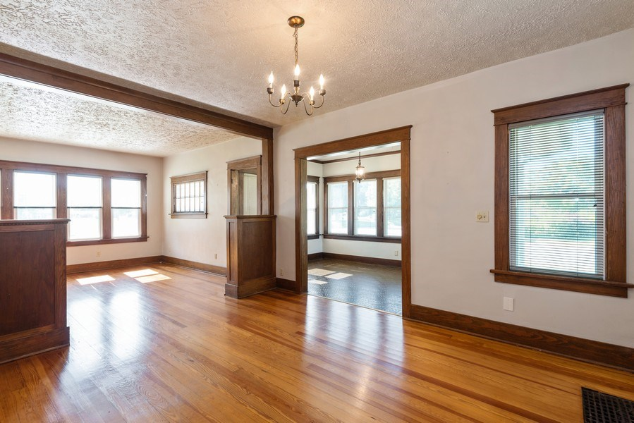 Real Estate Photography - 907 N Main Street, Watervliet, MI, 49098 - Living Room/Dining Room