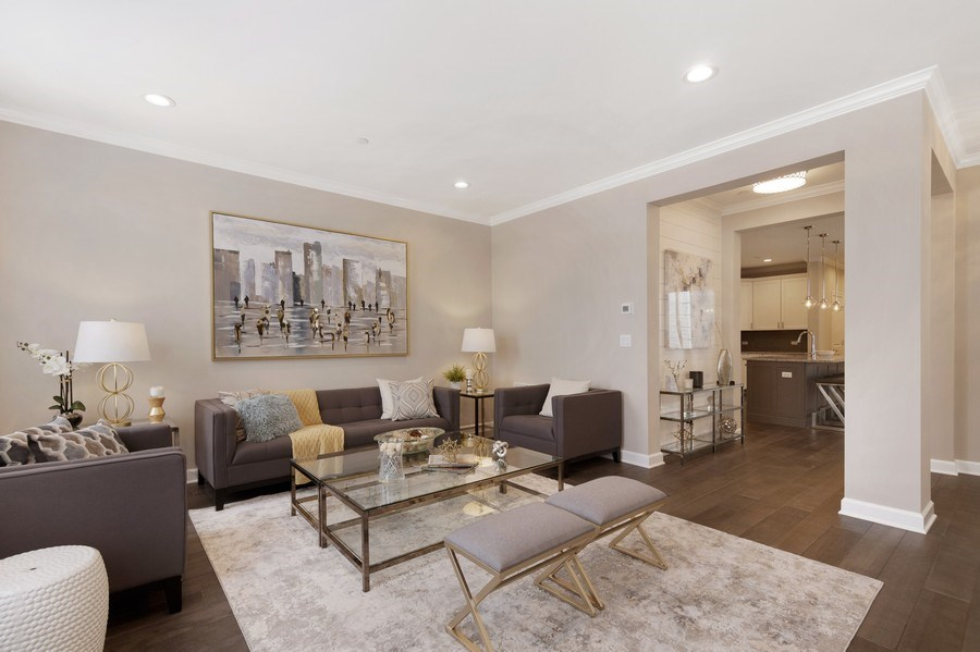 Real Estate Photography - 1235 Parker, Glenview, IL, 60025 - Living Room
