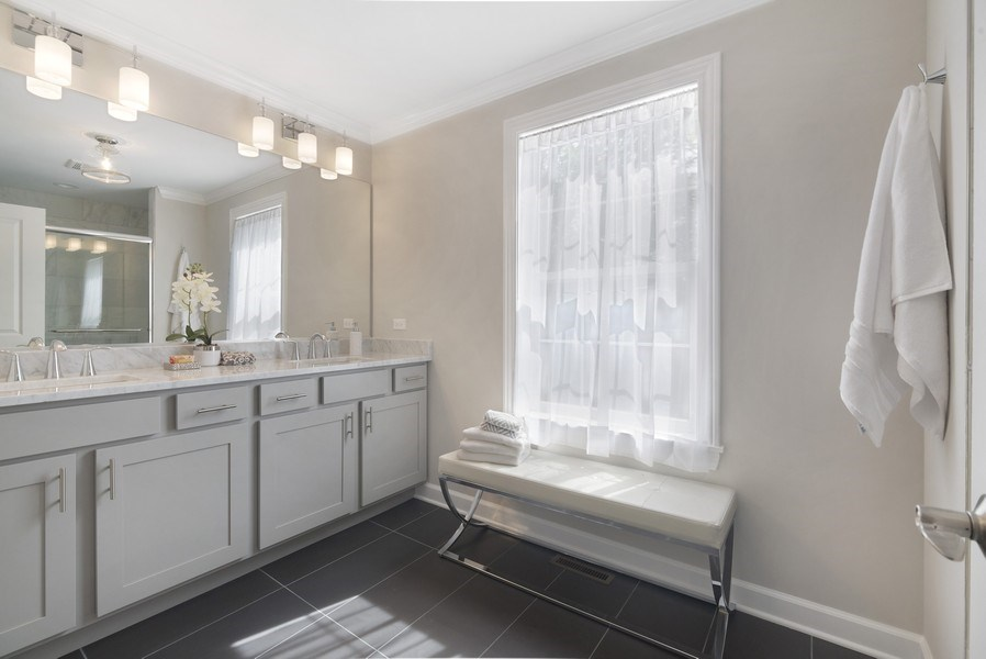 Real Estate Photography - 1235 Parker, Glenview, IL, 60025 - Master Bathroom