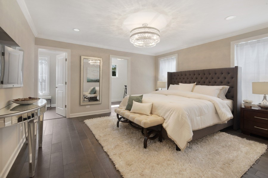 Real Estate Photography - 1235 Parker, Glenview, IL, 60025 - Master Bedroom