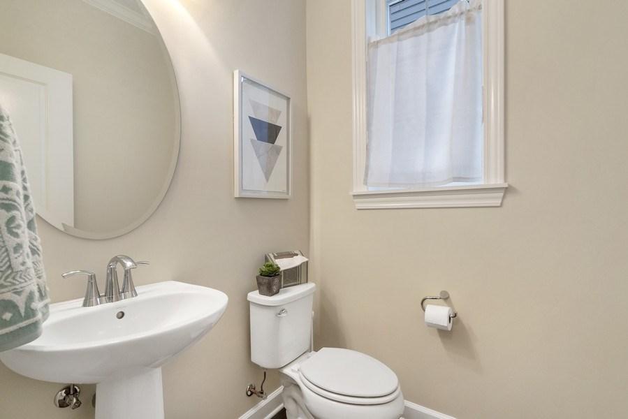 Real Estate Photography - 1235 Parker, Glenview, IL, 60025 - Half Bath
