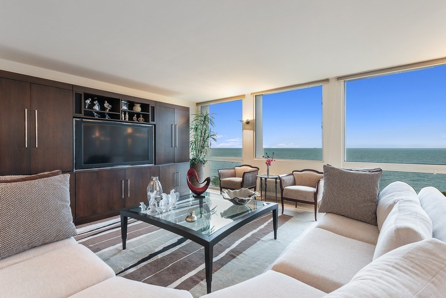Real Estate Photography - 1240 N Lake Shore Dr, Unit 7A, Chicago, IL, 60610 - Living Room