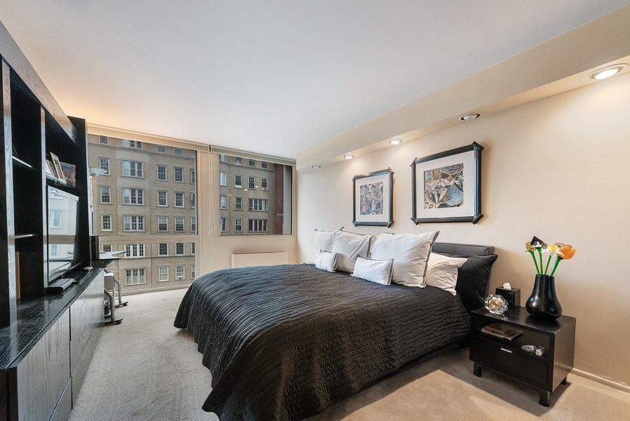 Real Estate Photography - 1240 N Lake Shore Dr, Unit 7A, Chicago, IL, 60610 - 2nd Bedroom