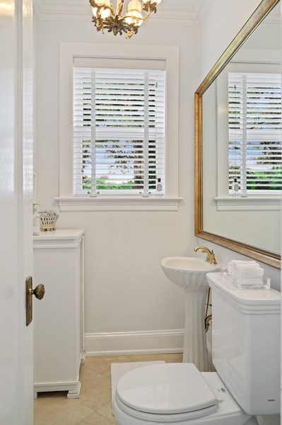 Real Estate Photography - 690 Elder, Winnetka, IL, 60091 - Powder Room