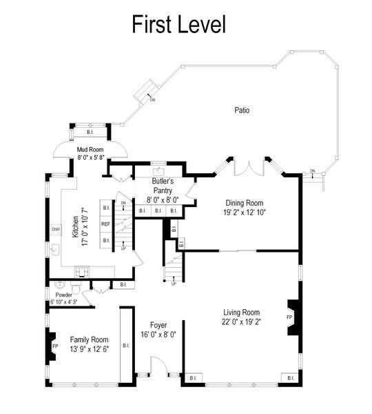 Real Estate Photography - 690 Elder, Winnetka, IL, 60091 - Floor Plan