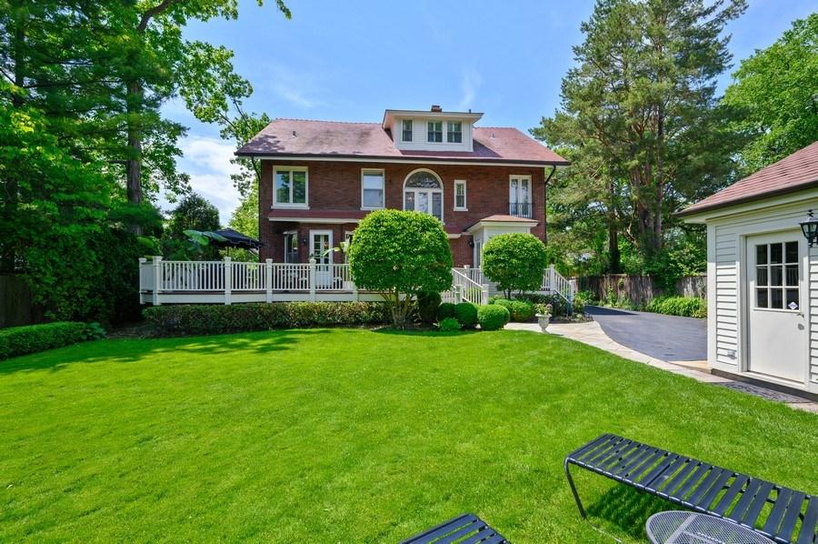Real Estate Photography - 690 Elder, Winnetka, IL, 60091 - Rear View