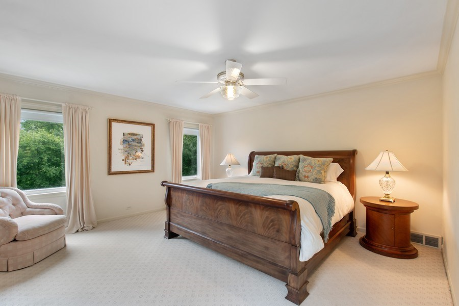 Real Estate Photography - 417 Pebblebrook Rd, Northbrook, IL, 60062 - Master Bedroom