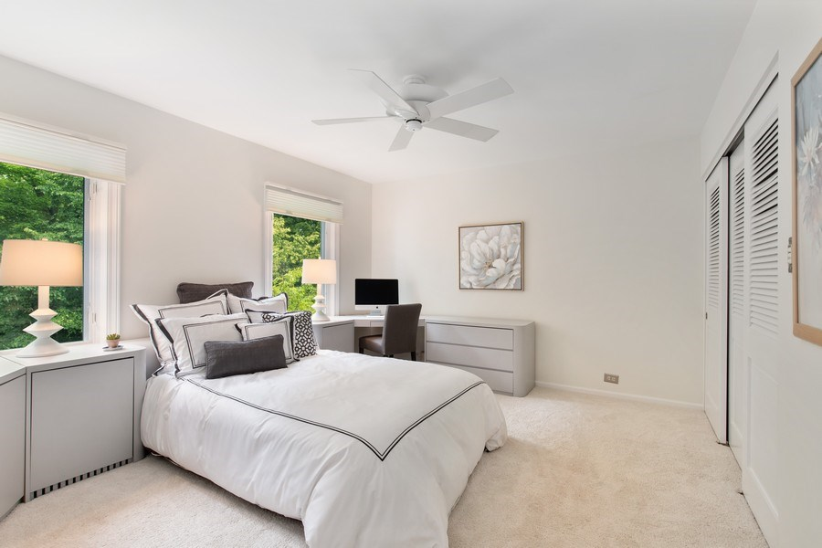 Real Estate Photography - 417 Pebblebrook Rd, Northbrook, IL, 60062 - 2nd Bedroom